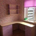 Розовый стол