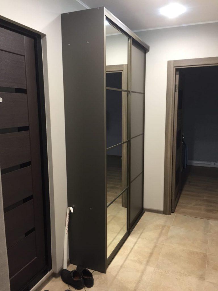 Тёмный шкаф-купе Мебель ПТЗ